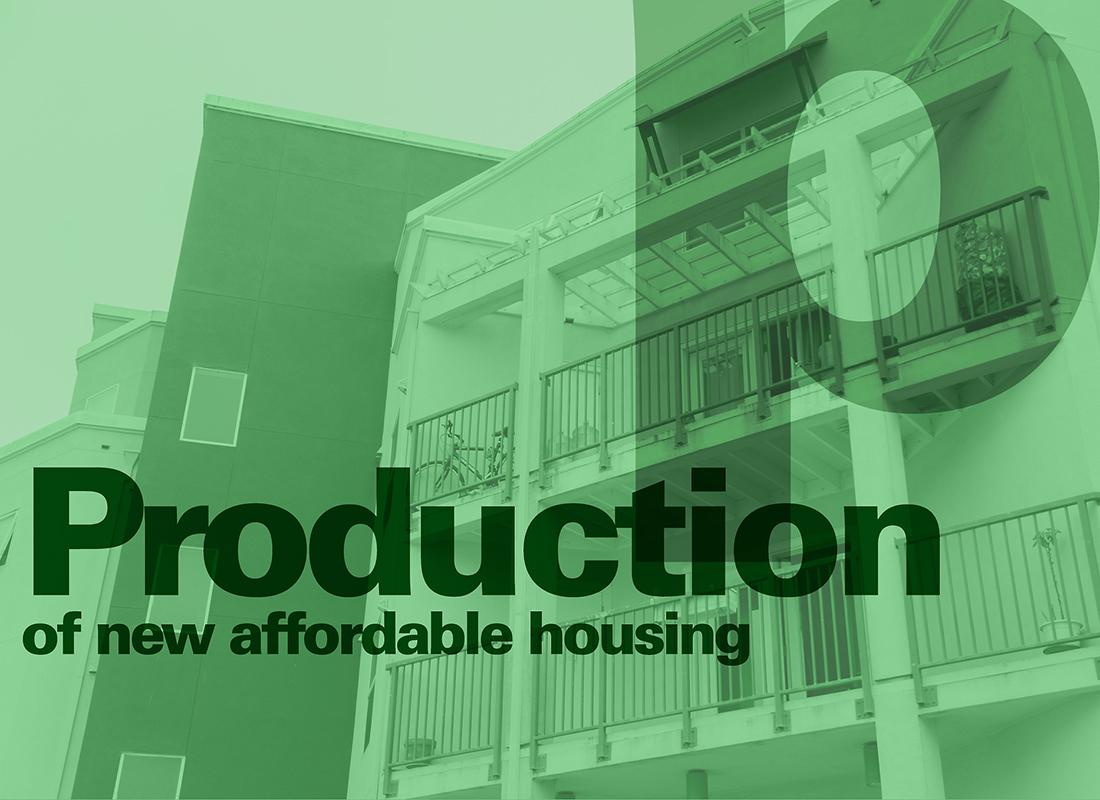 Image: Production of affordable housing